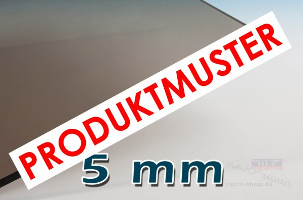 Makrolon® UV 5mm Massivplatte, bronze (2850) MUSTER