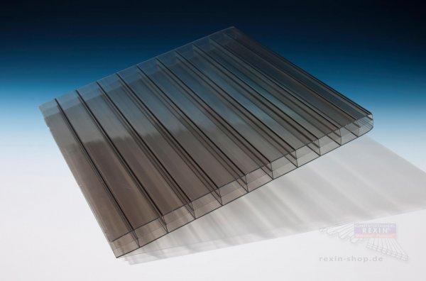 REXOclear 3-fach-Stegplatte, 16mm, bronze