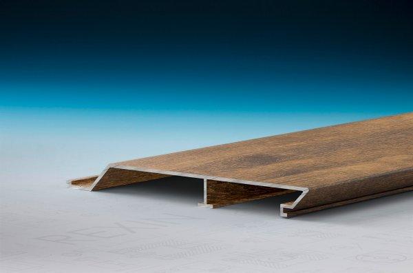 REXOpanel Alu Rhombus-Fassadenprofil 16mm, Holzdekor Treibholz