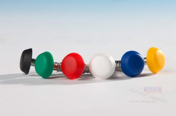 VA Fassadenschrauben 5.5 x 35mm, mit farbiger Kappe, 10er Set
