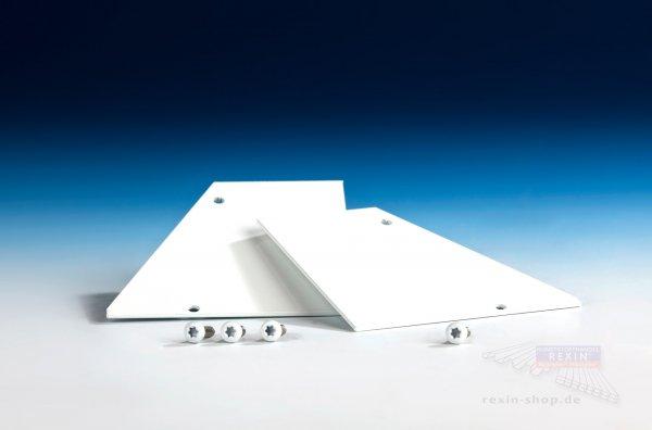 REXOsystem Alu-Wandanschluss-Endkappen weiß, 2er Set mit Schrauben
